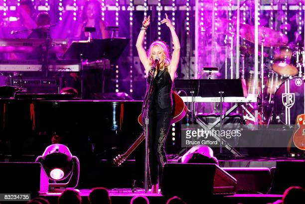Singer/songwriter Sheryl Crow perform at the 13th annual Andre Agassi Charitable Foundation's Grand Slam for Children benefit concert at the Wynn Las...