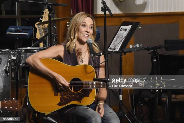 Singersongwriter Sheryl Crow performs for a house concert benefiting MusiCares on October 30 2017 in Nashville Tennessee
