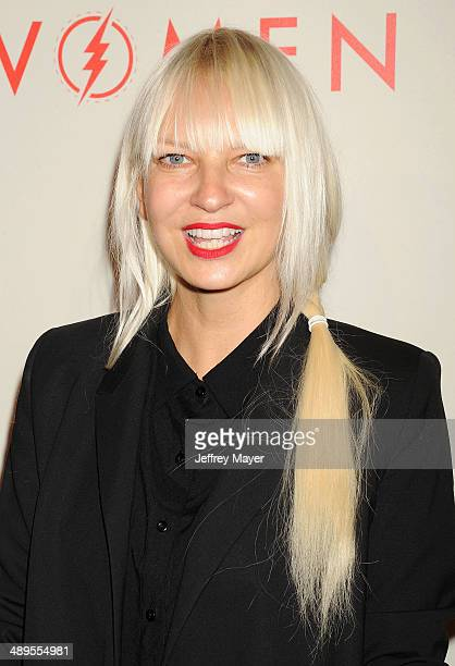 Singer/songwriter Sia arrives at the 2014 'An Evening With Women' Benefiting LA Gay Lesbian Center at the Beverly Hilton Hotel on May 10 2014 in...