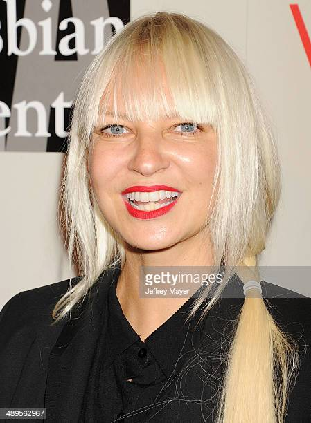 Singer/songwriter Sia arrives at the 2014 An Evening With Women Benefiting LA Gay Lesbian Center at the Beverly Hilton Hotel on May 10 2014 in...