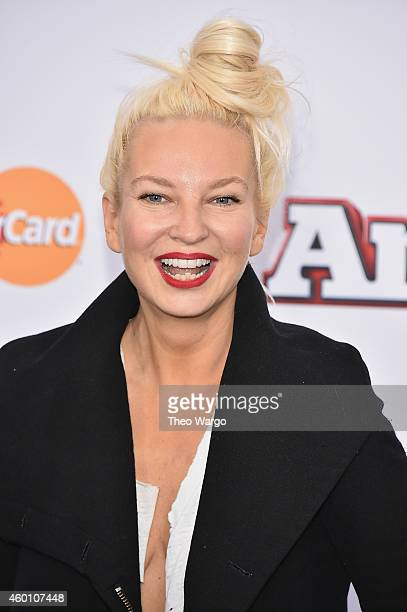 Singersongwriter Sia attends the Annie World Premiere at Ziegfeld Theater on December 7 2014 in New York City