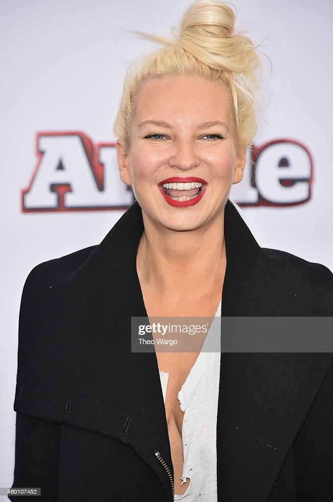 Singer-songwriter Sia attends the 'Annie' World Premiere at Ziegfeld Theater on December 7, 2014 in New York City.
