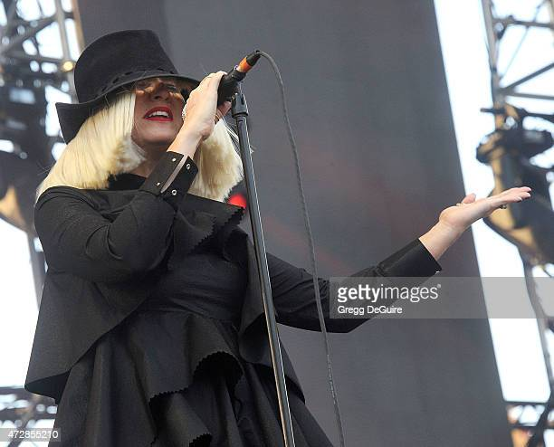 Singer/songwriter Sia performs at the 1027 KIIS FM's Wango Tango concert at StubHub Center on May 9 2015 in Los Angeles California