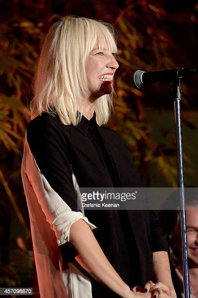 Singer/songwriter Sia performs onstage during the Hammer Museum's 12th annual Gala in the Garden with generous support from Bottega Veneta at the...