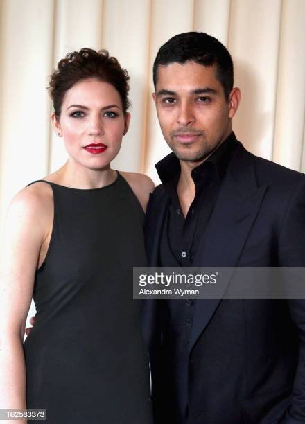 Singer/songwriter Skylar Grey and actor Wilmer Valderrama attend Grey Goose at 21st Annual Elton John AIDS Foundation Academy Awards Viewing Party at...