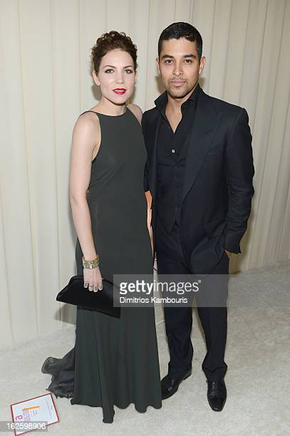 Singer/Songwriter Skylar Grey and actor Wilmer Valderrama attend the 21st Annual Elton John AIDS Foundation Academy Awards Viewing Party at West...