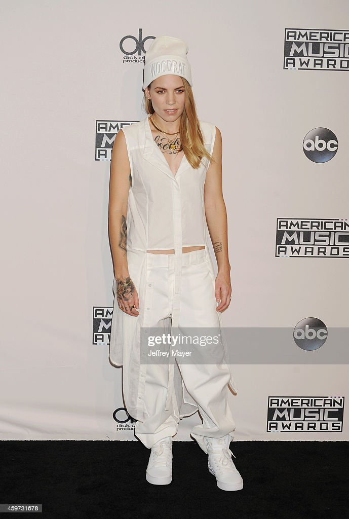 Singer-songwriter Skylar Grey poses in the press room at the 2014 American Music Awards at Nokia Theatre L.A. Live on November 23, 2014 in Los Angeles, California.