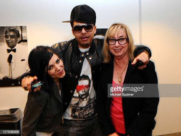 Singer/songwriter Skylar Grey producer Alex da Kid and Maureen Droney Sr Executive Director Recording Academy Producers Engineers Wing attend the...