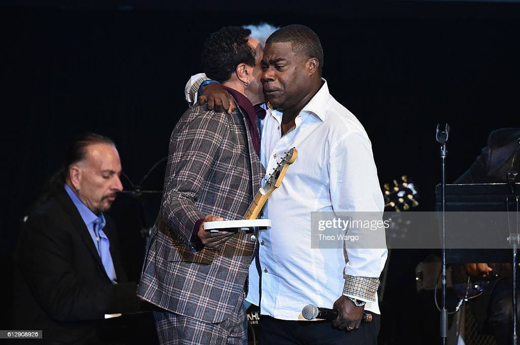 Singer-songwriter Smokey Robinson accepts the award for Rocker of the Year from actor Tracy Morgan onstage during Little Kids Rock Benefit 2016 at Capitale on October 5, 2016 in New York City.