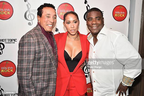 Singersongwriter Smokey Robinson actor Megan Wollover and actor Tracy Morgan attend Little Kids Rock Benefit 2016 at Capitale on October 5 2016 in...