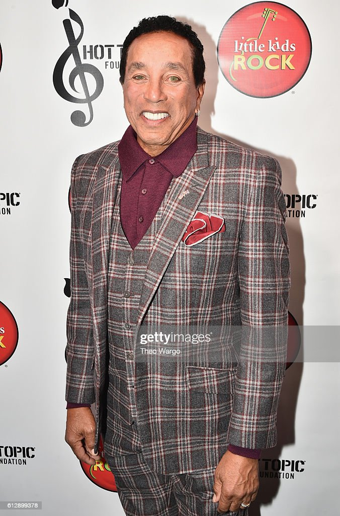 Singer-songwriter Smokey Robinson attends Little Kids Rock Benefit 2016 at Capitale on October 5, 2016 in New York City.