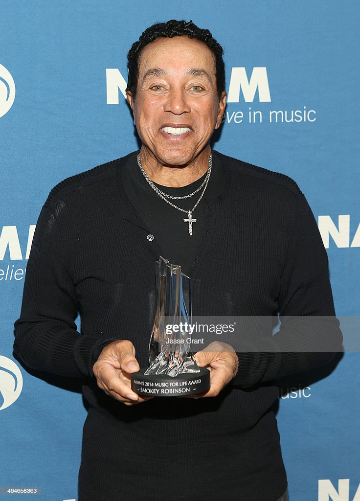 Singer/songwriter Smokey Robinson attends the 2014 National Association of Music Merchants show at the Anaheim Convention Center on January 23, 2014 in Anaheim, California.