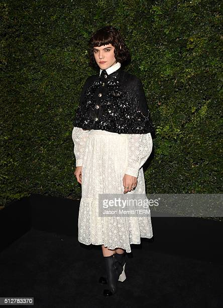 Singersongwriter SoKo attends the Charles Finch and Chanel PreOscar Awards Dinner at Madeo Restaurant on February 27 2016 in Los Angeles California