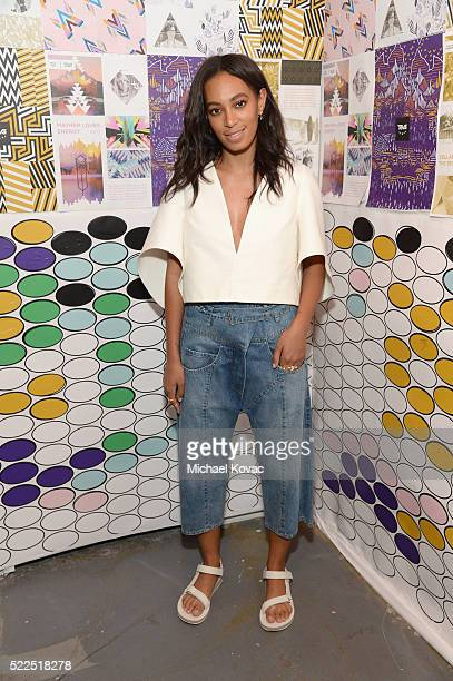 Singersongwriter Solange Knowles attends the Teva launch celebration of the 2016 Artist Series Collection at The Bold Room on April 19 2016 in Los...