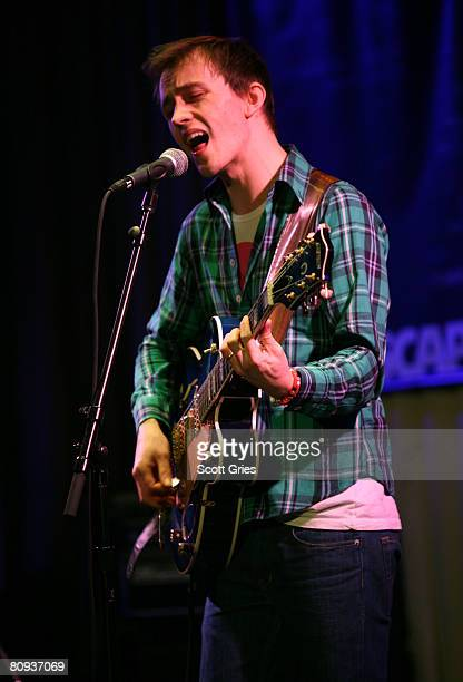 Singer/songwriter Sondre Lerche performs during the Tribeca ASCAP Music Lounge during the 2008 Tribeca Film Festival on April 30, 2008 in New York...