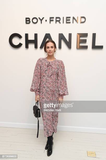Singersongwriter Sophie Auster wearing CHANEL attends as CHANEL celebrates the launch of the Coco Club a BoyFriend Watch event at The Wing Soho on...