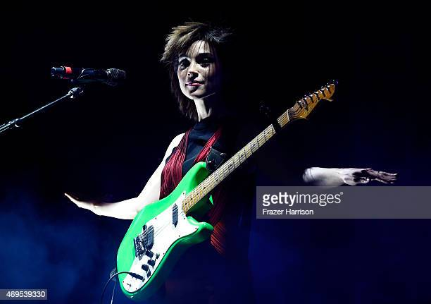 Singer-songwriter St. Vincent performs onstage during day 3 of the 2015 Coachella Valley Music & Arts Festival at the Empire Polo Club on April 12,...