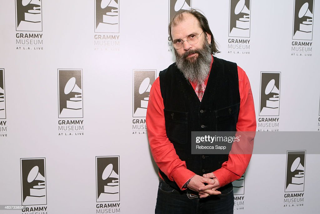 Singer/songwriter Steve Earle at The Drop: Steve Earle at The GRAMMY Museum on February 17, 2015 in Los Angeles, California.