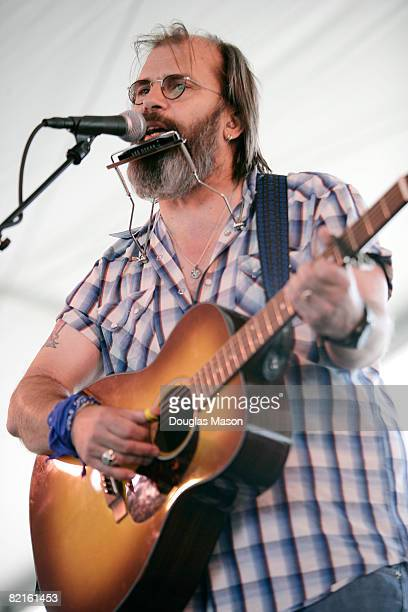 Singersongwriter Steve Earle performs at the Newport Folk Festival at Fort Adams State Park on August 2 2008 in Newport Rhode Island
