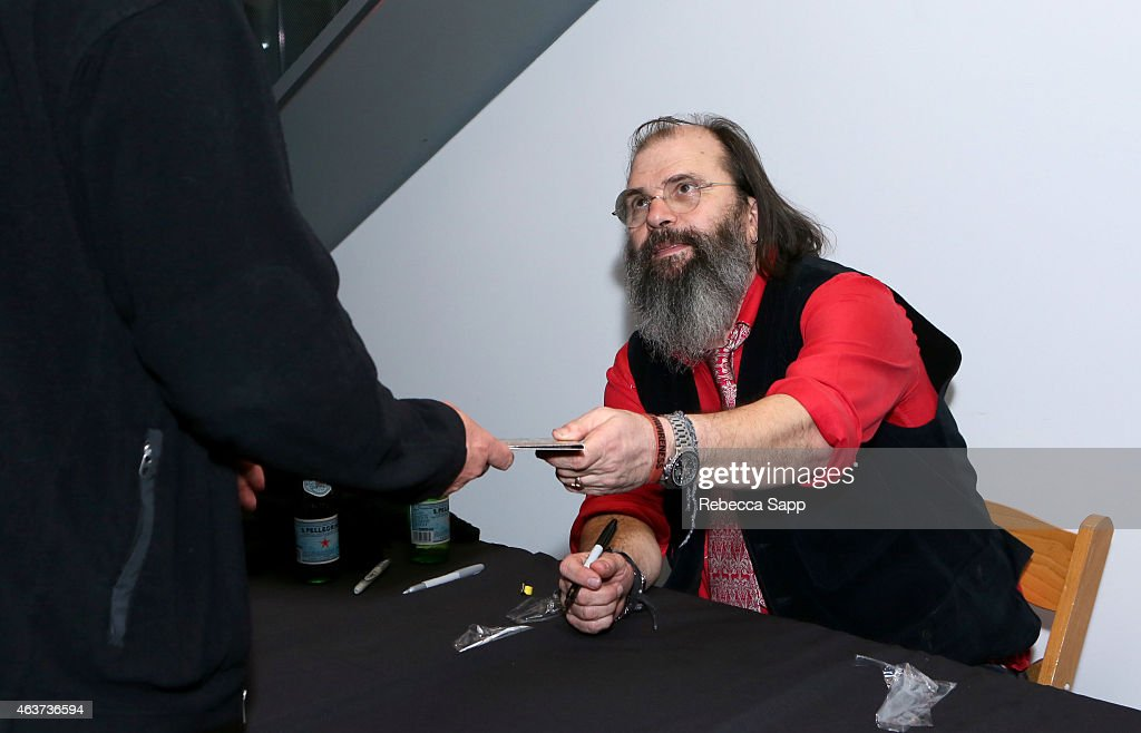 Singer/songwriter Steve Earle signs for fans at The Drop: Steve Earle at The GRAMMY Museum on February 17, 2015 in Los Angeles, California.