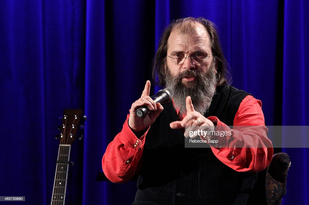 Singer/songwriter Steve Earle speaks onstage at The Drop: Steve Earle at The GRAMMY Museum on February 17, 2015 in Los Angeles, California.