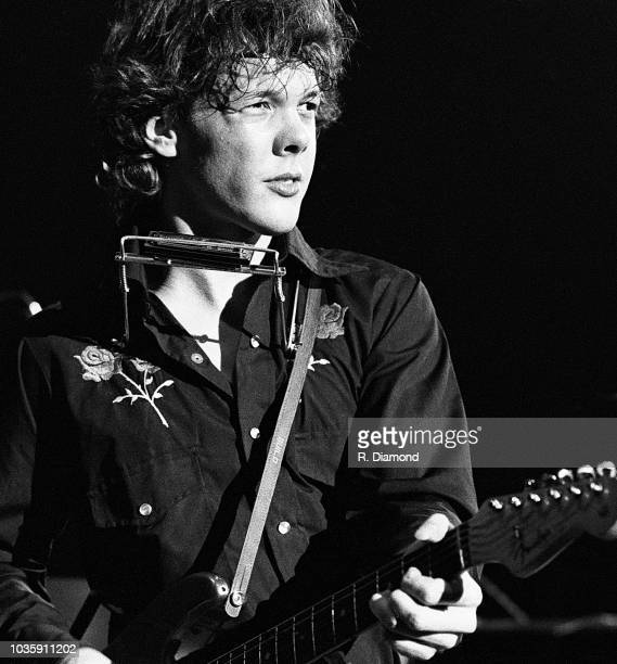 "Singer/Songwriter Steve Forbert performs during CBS Records event for his debut album ""Alive On Arrival"" at The Capri Theater circa 1978 in Atlanta..."