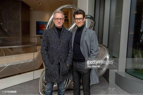 "Singer/songwriter Sting and director Guy Nattiv attend the ""Skin"" New York Screening on February 02, 2019 in New York City."