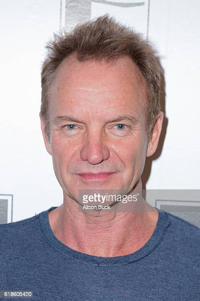 Singer/songwriter Sting arrives at An Evening With Sting at The GRAMMY Museum on October 26 2016 in Los Angeles California