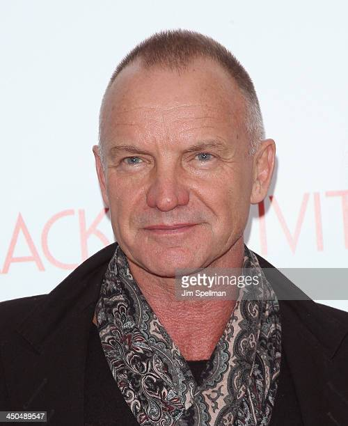 Singer/songwriter Sting attends the 'Black Nativity' premiere at The Apollo Theater on November 18 2013 in New York City