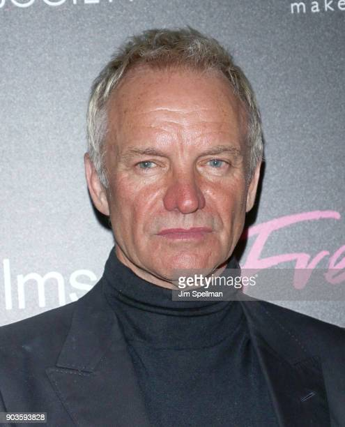 Singer/songwriter Sting attends the premiere of IFC Films' 'Freak Show' hosted by The Cinema Society and Bluemercury at Landmark Sunshine Cinema on...