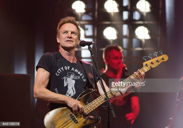 Singersongwriter Sting performs in concert at ACL Live on February 19 2017 in Austin Texas
