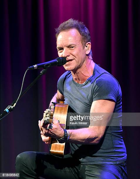Singer/songwriter Sting performs onstage at the GRAMMY Museum on October 26, 2016 in Los Angeles, California.