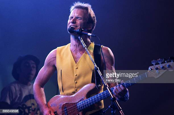 Singersongwriter Sting sings at the Hollywood Bowl on his 40th Birthday Sting achieved popularity with The Police in the early eighties and had...