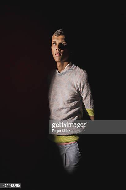 Singer/songwriter Stromae poses for a portrait backstage at The FADER FORT Presented by Converse during SXSW on March 18 2015 in Austin Texas