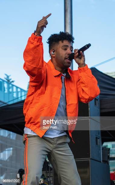 Singersongwriter Super Duper Kyle performs at the Upstream Music Festival in Pioneer Square on June 1 2018 in Seattle Washington