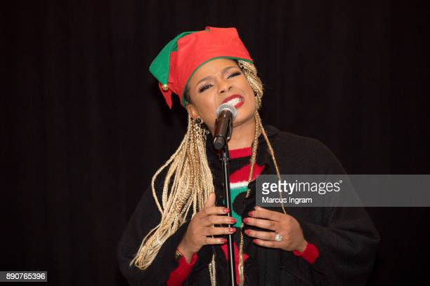 Singersongwriter Syleena Johnson performs onstage during the '5th Annual Caroling with Q Parker and Friends' at Atlanta Marriott Buckhead on December...
