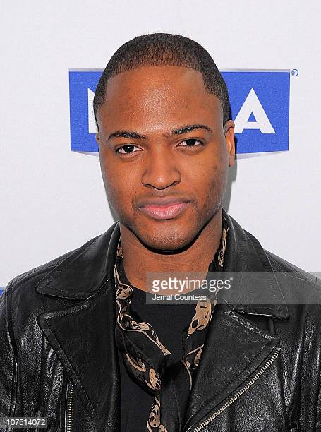 Singer/songwriter Taio Cruz attends the Nivea and Times Square Alliance press conference at Times Square Visitor Center on December 10 2010 in New...