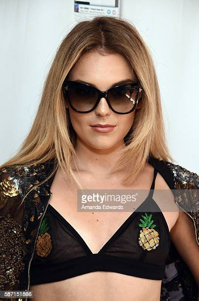 Singer/songwriter Tallia Storm attends the NextRadio App Summer Pool Party Series with Kid Ink and Justine Skye at Mondrian Los Angeles on August 7...