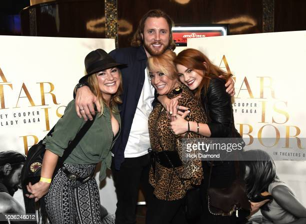 Singer/Songwriter Tanya Tucker with her children Presley Tanita Tucker Beau Grayson and Layla LaCosta Laseter attend A Star Is Born screening with...