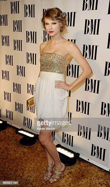 Singer/songwriter Taylor Swift arrives at the 58th Annual BMI Pop Awards at the Beverly Wilshire Hotel on May 18 2010 in Beverly Hills California