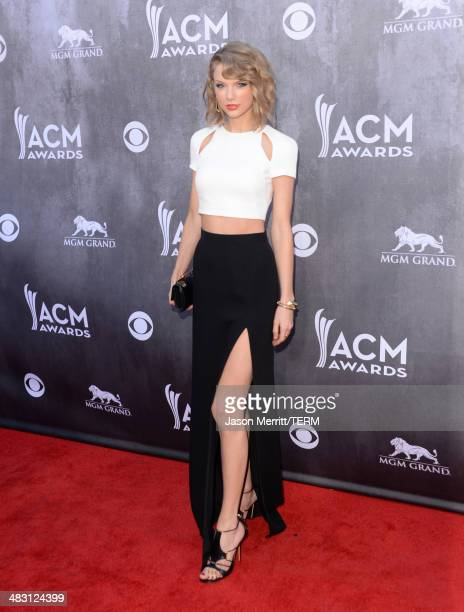 Singer/songwriter Taylor Swift attends the 49th Annual Academy Of Country Music Awards at the MGM Grand Garden Arena on April 6 2014 in Las Vegas...