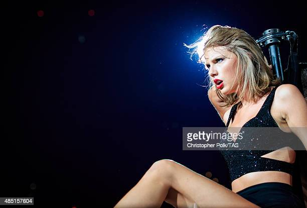 Singersongwriter Taylor Swift performs onstage during Taylor Swift The 1989 World Tour Live In Los Angeles at Staples Center on August 24 2015 in Los...