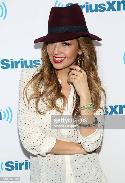 Singersongwriter Thalia Visits The SiriusXM Studios For 'SiriusXM's ICONOS With Thalia' at SiriusXM Studios on November 10 2014 in New York City