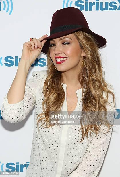 Singersongwriter Thalia Visits The SiriusXM Studios For SiriusXM's ICONOS With Thalia at SiriusXM Studios on November 10 2014 in New York City
