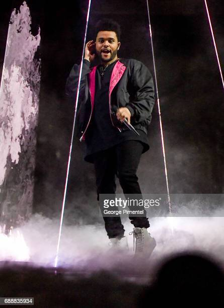Singer/Songwriter The Weeknd performs during the Starboy Legend of the Fall 2017 World Tour at at Air Canada Centre on May 26 2017 in Toronto Canada