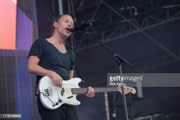 Singer-songwriter Thom Yorke of Tomorrow's Modern Boxes performs onstage during weekend one, day one of Austin City Limits Music Festival at Zilker...