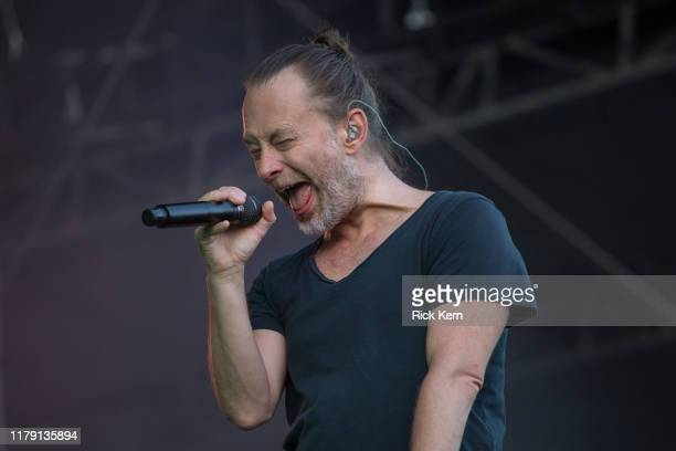Singersongwriter Thom Yorke of Tomorrow's Modern Boxes performs onstage during weekend one day one of Austin City Limits Music Festival at Zilker...