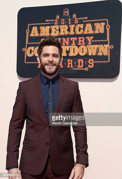 Singersongwriter Thomas Rhett attends the 2016 American Country Countdown Awards at The Forum on May 1 2016 in Inglewood California
