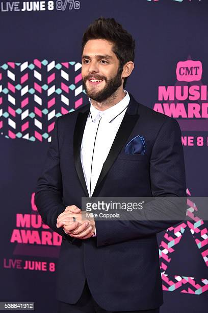 Singersongwriter Thomas Rhett attends the 2016 CMT Music awards at the Bridgestone Arena on June 8 2016 in Nashville Tennessee