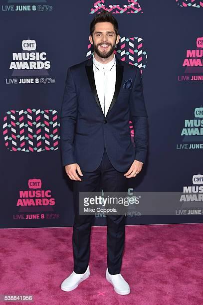Singersongwriter Thomas Rhett attends the 2016 CMT Music awards at the Bridgestone Arena on June 8 2016 in Nashville Tennessee